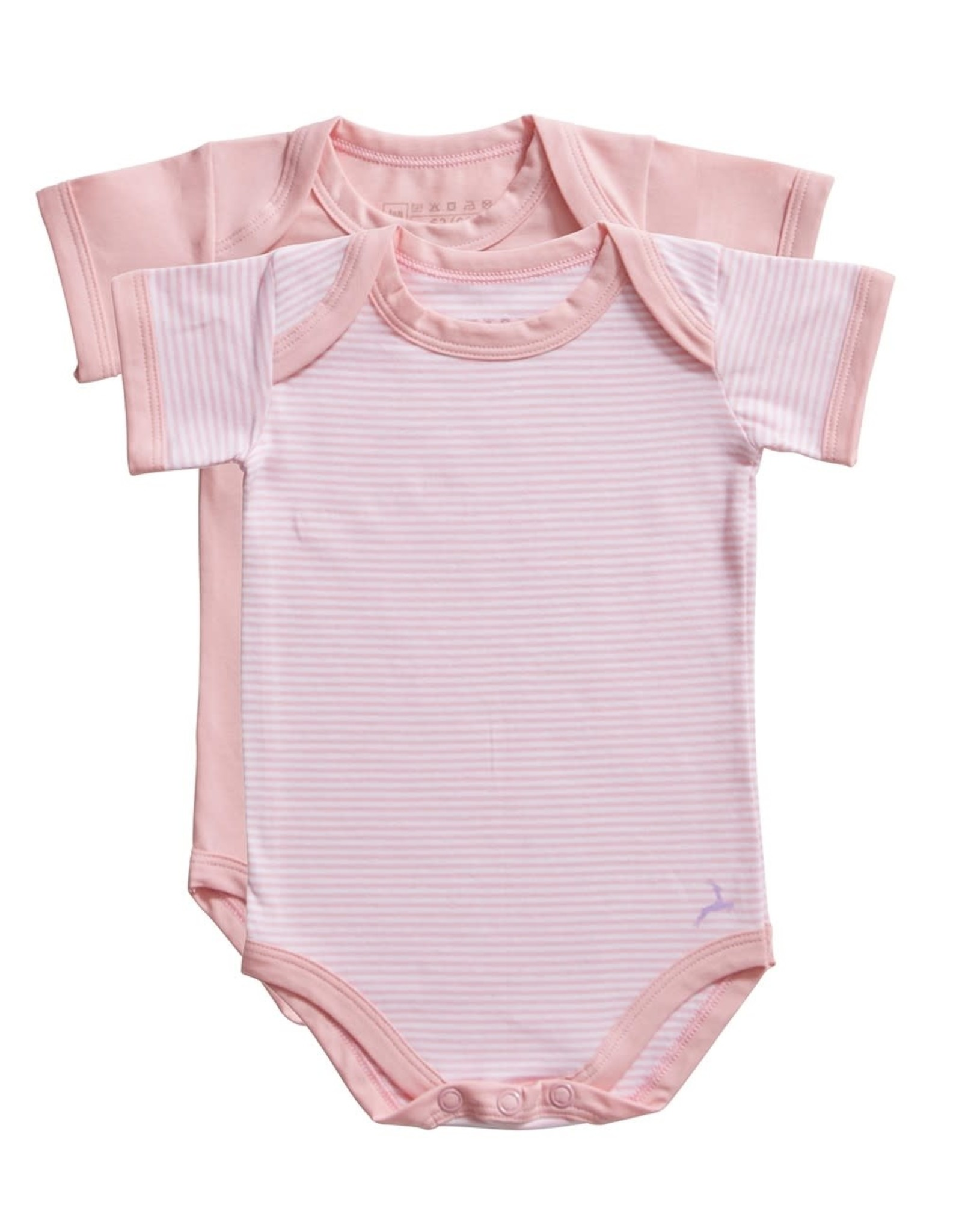 Ten Cate Basic romper 2 pack stripe and candy pink