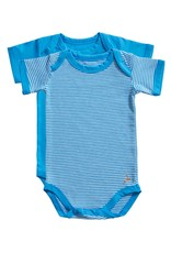 Ten Cate Basic romper 2 pack stripe and diva blue