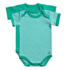 Ten Cate Basic romper 2 pack stripe and mint