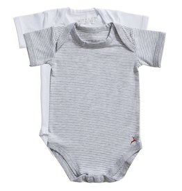 Ten Cate Basic romper 2 pack stripe and white
