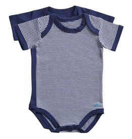 Ten Cate Basic romper 2 pack stripe/medieval blue