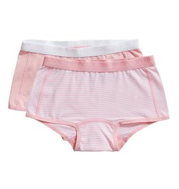 Ten Cate Basic girls shorts 2 pack stripe and candy pink