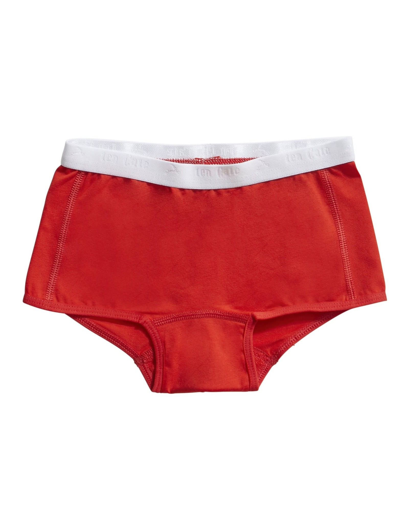 Ten Cate Basic girls shorts 2 pack stripe and flame scarlet