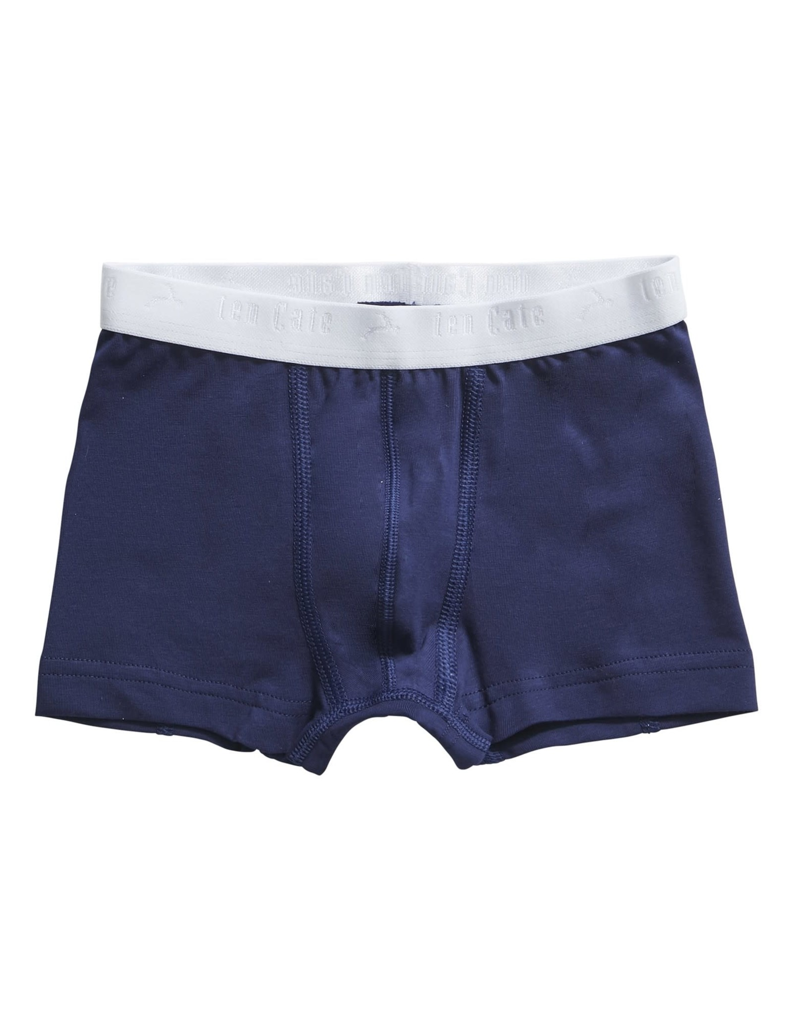 Ten Cate Basis boys shorts 2 pack stripe medieval blue