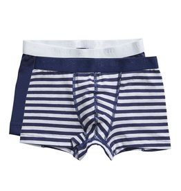 Ten Cate Basis boys shorts 2 pack stripe medieval blue