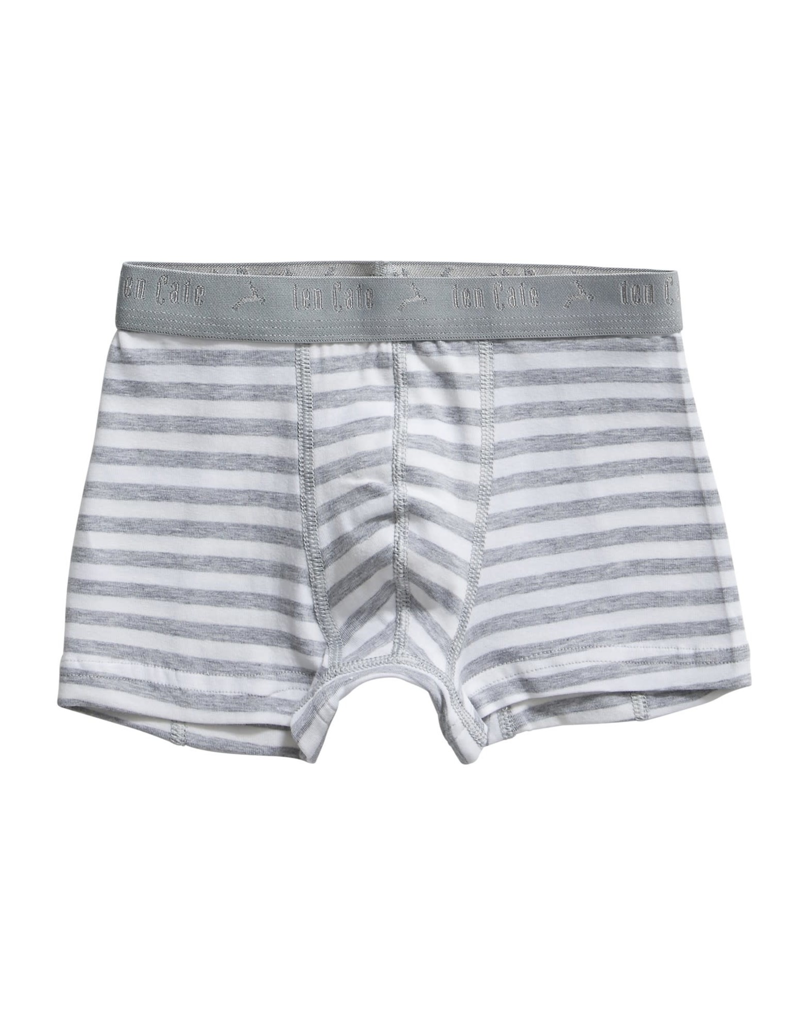Ten Cate Basis boys shorts 2 pack stripe and lightgrey melee