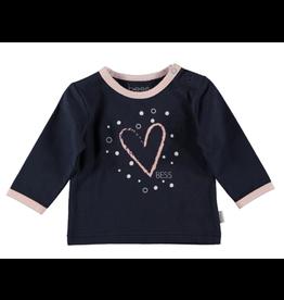 BESS Shirt l.sl. Heart blue