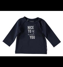BESS Shirt l.sl. Nice to meet you blue NOS