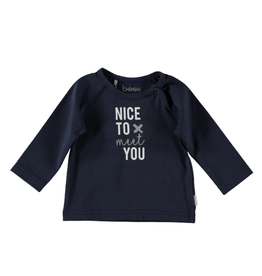 BESS Shirt l.sl. Nice to meet you blue