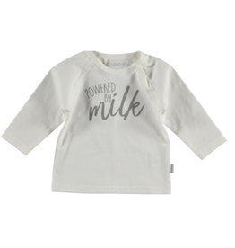 BESS Shirt l.sl. Powered by milk white NOS