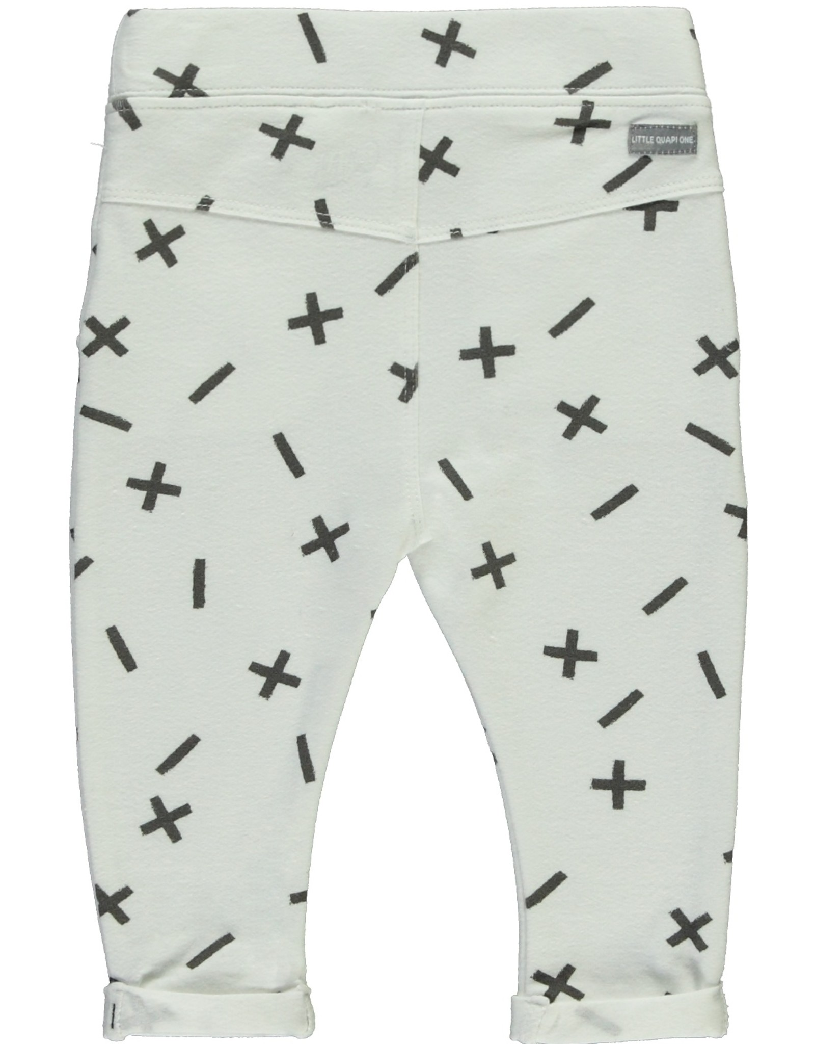 Quapi Broek Xess Grey text AOP