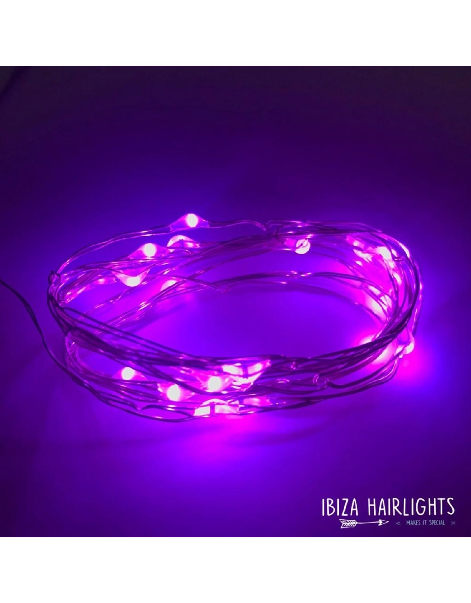 Ibiza Hairwraps Hairlights Lilac