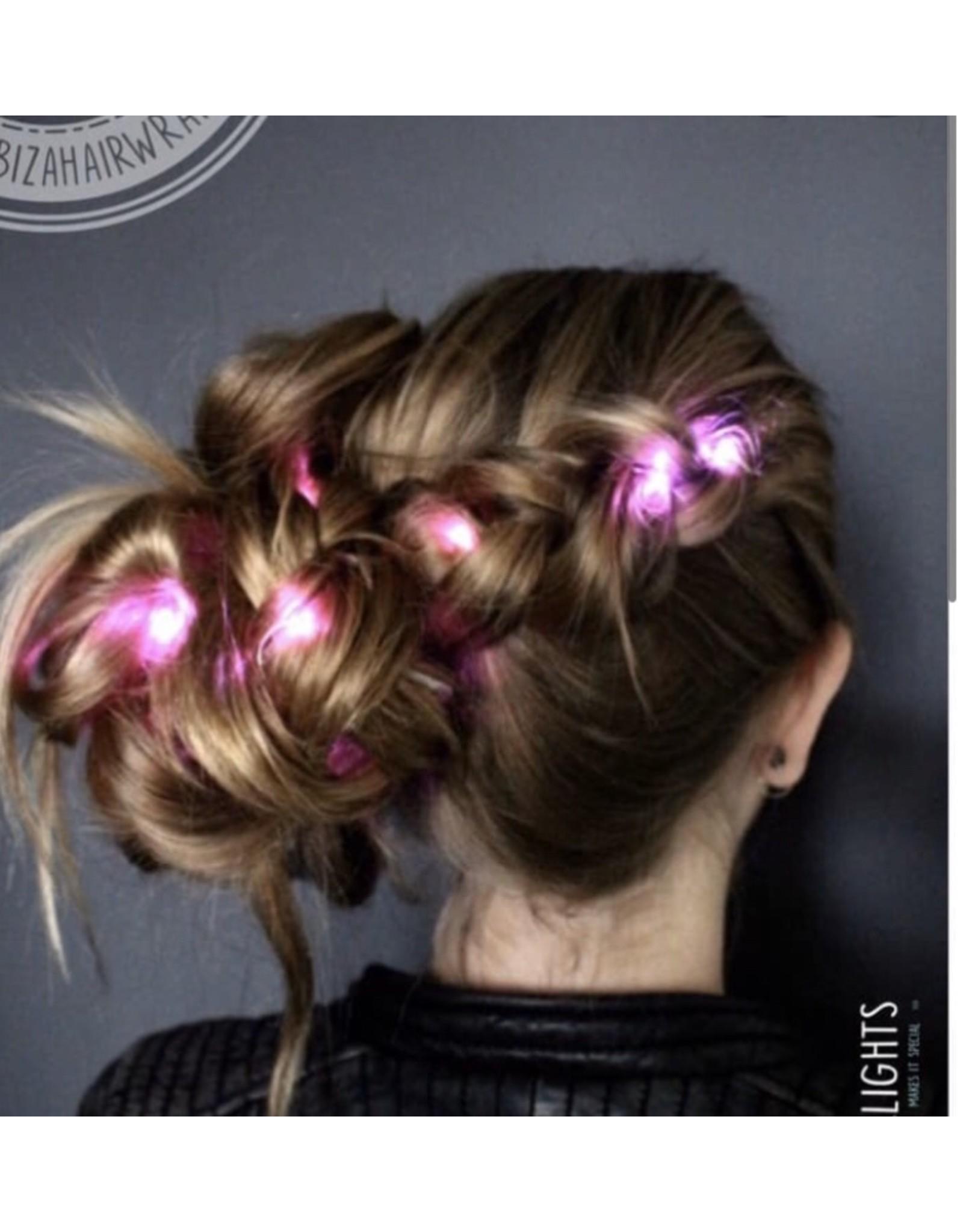 Ibiza Hairwraps Hairlights Pink