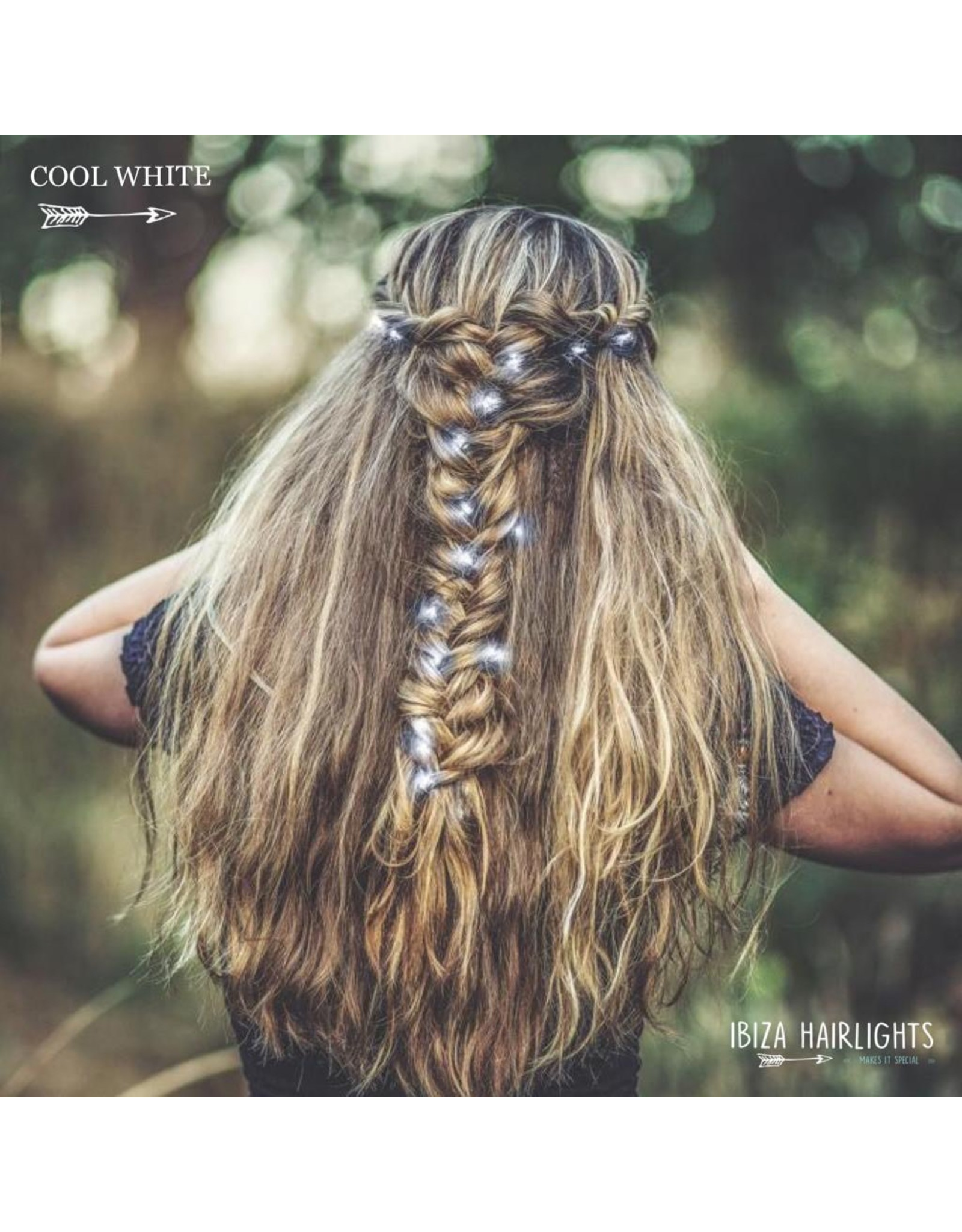 Ibiza Hairwraps Hairlights Cool White