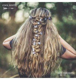 Ibiza Hairwraps Hairlights Cool White