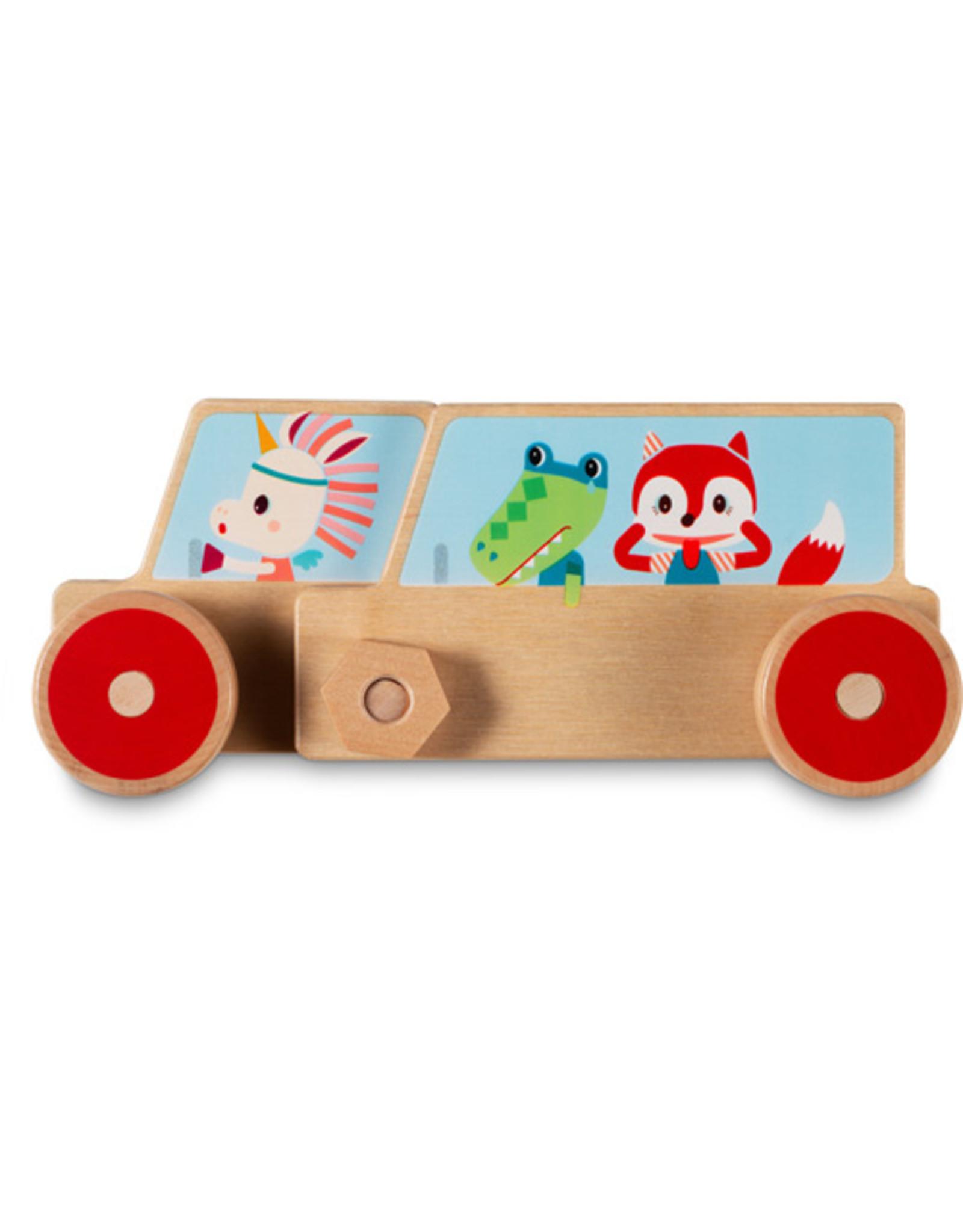 Lilliputiens Bouwset auto