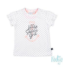 Feetje T-shirt hartjes - Sailor Girl Wit