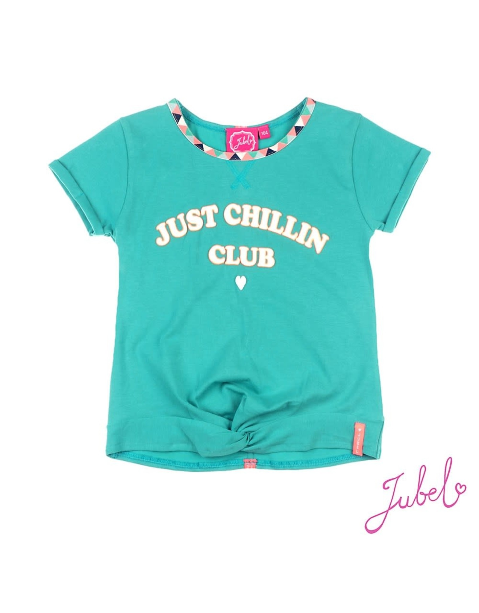 Jubel Crop Top Just Chillin Club - Botanic Blush Jade Groen