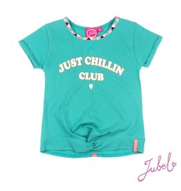 Jubel Crop Top Just Chillin Club - Botanic Blush Jade Groen