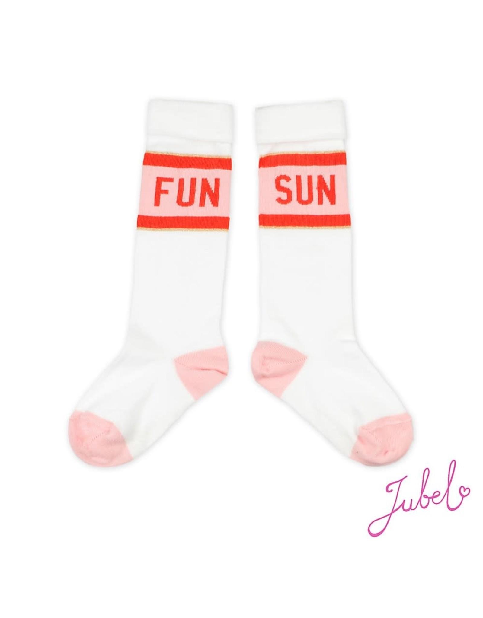 Jubel Kniekous Fun Sun - Funbird Wit