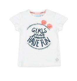 Jubel T-shirt Girls Just Wanna - Botanic Blush Wit