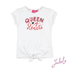 Jubel T-shirt Queen - Funbird Wit
