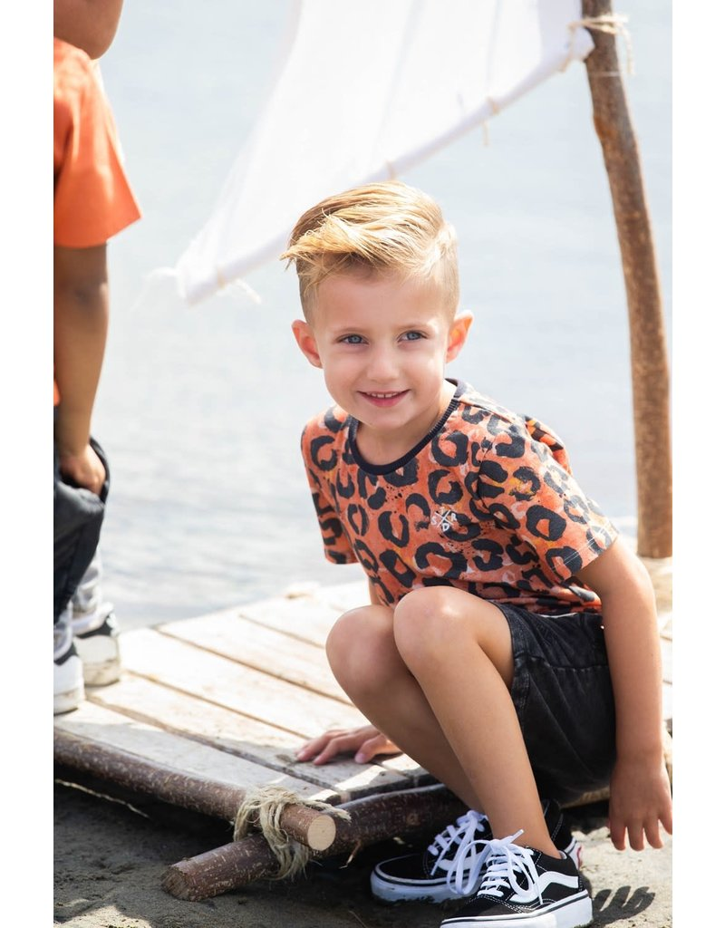 Sturdy T-shirt AOP - Treasure Hunter Oranje