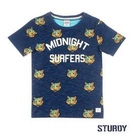 Sturdy T-shirt AOP / Midnight Sufers - Wild Wanderer Indigo