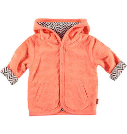 BESS Cardigan Reversible Stars/Zigzag 013 Coral