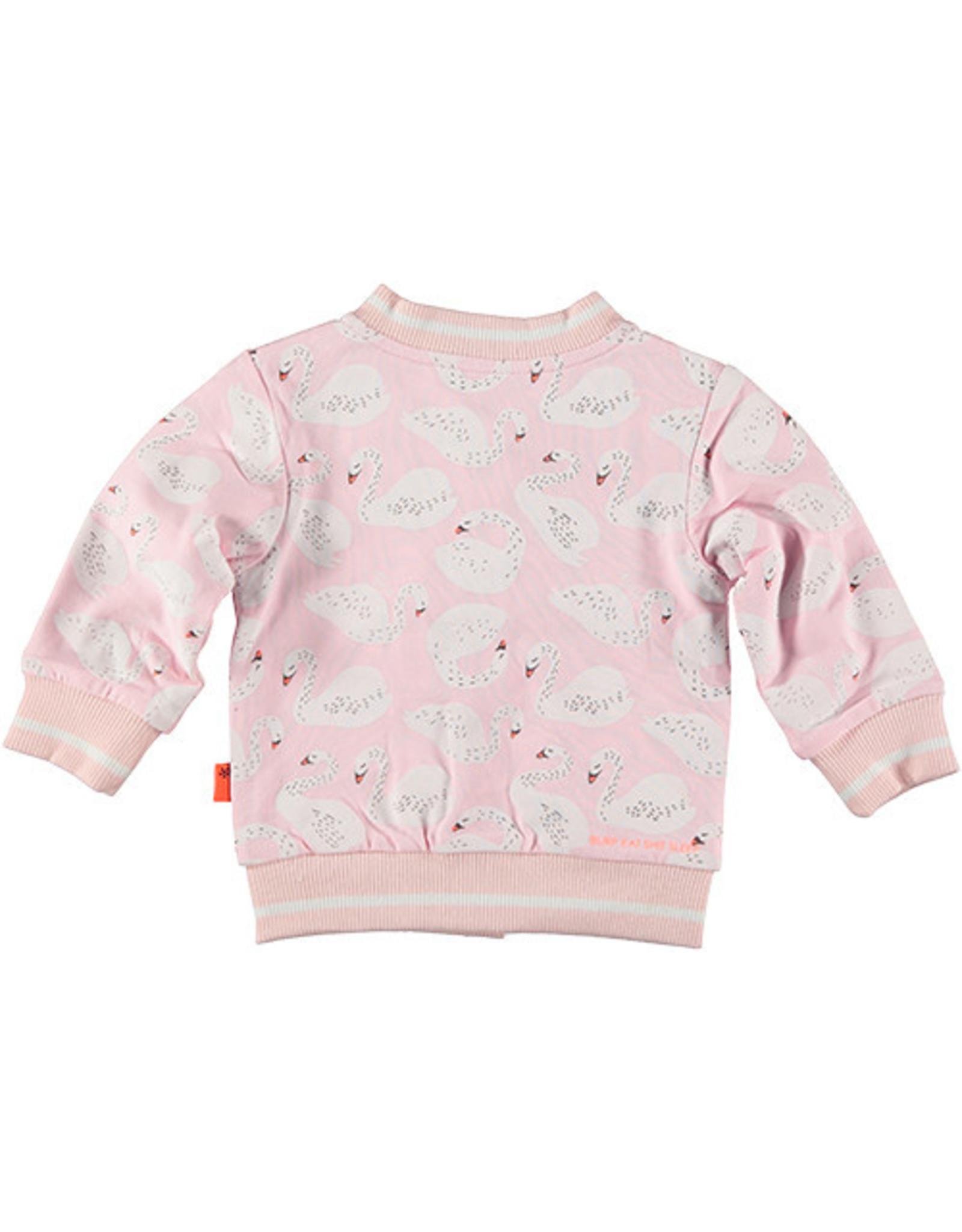 BESS Cardigan Reversible Swan/Dots 007 Pink