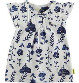 BESS Dress AOP Blue Flowers 1 White