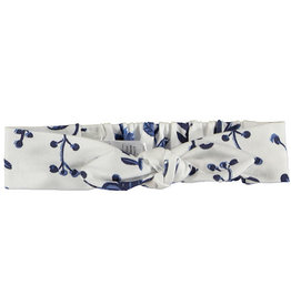 BESS Headband AOP Blue Flowers 1 White