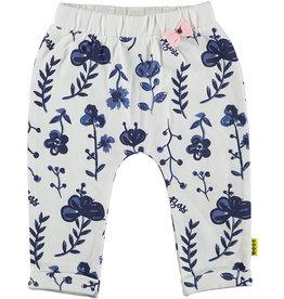 BESS Pants AOP Blue Flowers 1 White