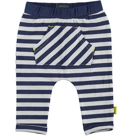 BESS Pants AOP Striped with Pocket 5 Blue