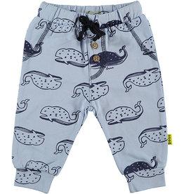 BESS Pants AOP Whales 52 Lightblue
