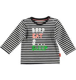 BESS Shirt l.sl. Striped BESS 001 White