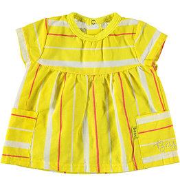 BESS Shirt sh.sl Striped 10 Yellow