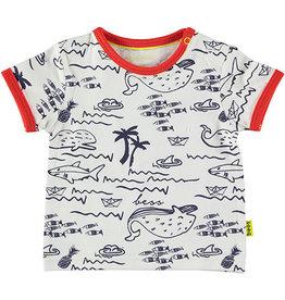 BESS Shirt sh.sl. AOP Seeworld 1 White
