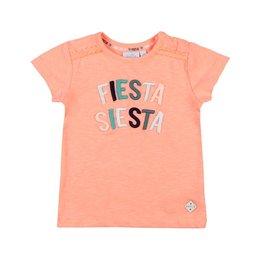 Feetje T-shirt Fiesta Siesta - Botanic Blush Neon Koraal