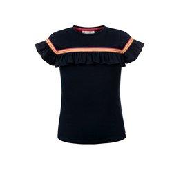 Looxs Little t-shirt ruffle s. navy
