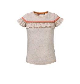 Looxs Little t-shirt ruffle s.sleeve spikkel sand