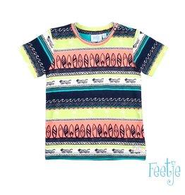 Feetje T-shirt AOP - Mini Wanderer Indigo
