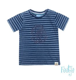 Feetje T-shirt Take A Walk - Mini Wanderer Blue denim