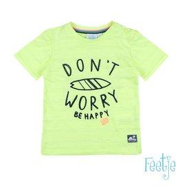 Feetje T-shirt Don't Worry - Mini Wanderer Geel