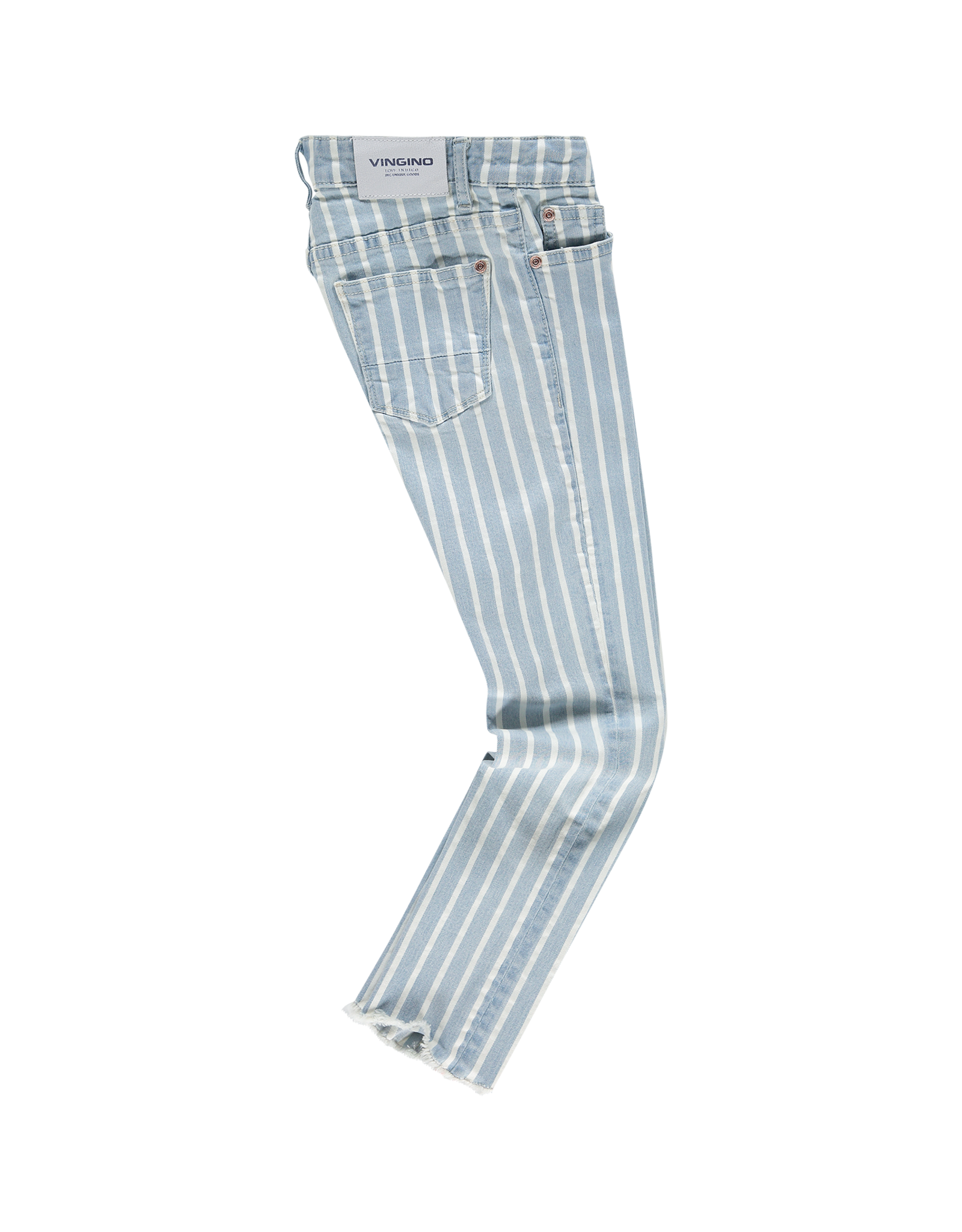 Vingino Abricot 181 Striped Denim Cropped Skinny