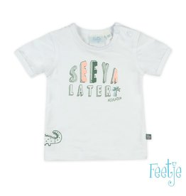 Feetje T-shirt See Ya Later - Bite U Later Wit