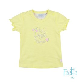 Feetje T-shirt It's Giggle Time - Sweet By Nature Geel