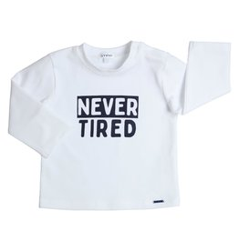 Gymp LONGSLEEVE - NEVER TIRED - AER WIT/MARINE
