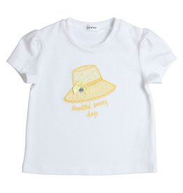 Gymp T-SHIRT EMBROIDERY HAT - AEROM WIT/GEEL
