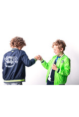 B-nosy Jacket with patch on chest and artwork on backside 129 Oxford blue